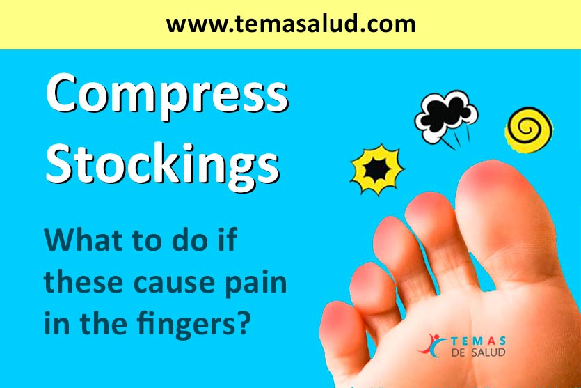 Compress stockings pain